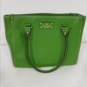 Kate Spade Wellesley Quinn Green Leather Bag